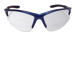 SAS Safety DB2 Safety Glasses with Clear Lens and Blue Frames in Polybag SAS540-0710