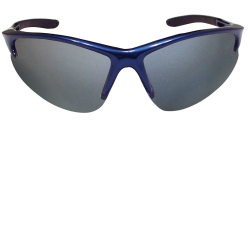 SAS Safety DB2 Safety Glasses with Mirror Lens and Blue Frames in Clamshell Packaging SAS540-0713