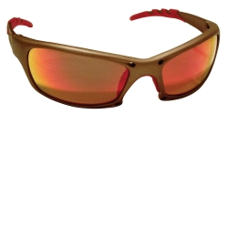 SAS Safety GTR Safety Glasses with Gold Frames and Iridium Mirror Lens in Clamshell Packaging SAS542-0119