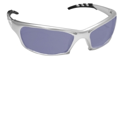 SAS Safety GTR Safety Glasses with Silver Frame with Ice Mirror Lens in Clamshell Packaging SAS542-0219