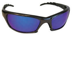 SAS Safety GTR Safety Glasses with Charcoal Frame and Purple Haze Mirror Lens in Clamshell Packaging SAS542-0319