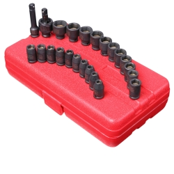 "Sunex Tools 23 Piece 1/4"" Drive Master Magnetic Impact Socket Set SUN1818"