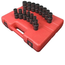 "Sunex Tools 1/2"" Drive 15 Piece 12 Point Metric Universal Impact Socket Set SUN2855"