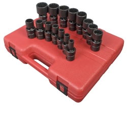 "Sunex Tools 1/2"" Drive 15 Piece 12 Point SAE Universal Impact Socket Set SUN2856"