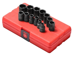 "Sunex Tools 13 Piece 3/8"" Drive 12 Point Standard Metric Impact Socket Set SUN3675"