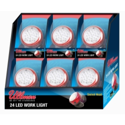 Ullman Devices Corp Rotating Magnetic LED Work Light - 6-Pack Display - ULLRT2LT6PK