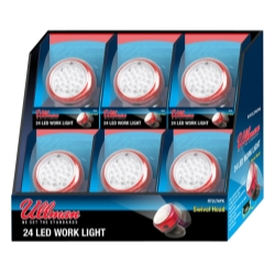 Ullman Devices Corp SIx Pack Display of ULLRT-48LT (48 LED Rotating Magnetic Work Light) - ULLRT48LT6PK