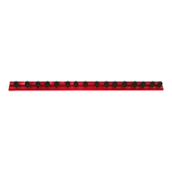 "Vim Products 16"" Red Magrail TL Magnetic Socket and Tool Organizer - VIMMR16R16C"