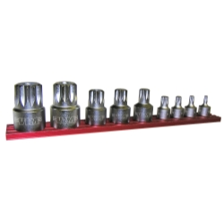 Vim Products 9 Piece Stubby XZN Triple Square Driver Set - VIMXZNS1000