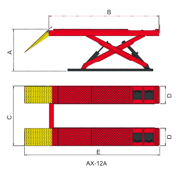 AMGO AX-12A Specifications Diagram