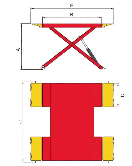 AMGO EM06 Specifications Diagram