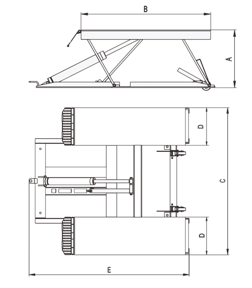 BendPak PCL-18 Specifications Diagram