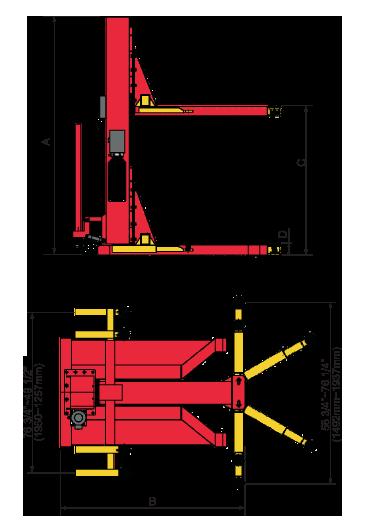 AMGO Hydraulics SML-6 Specs diagram