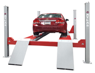 Atlas® Platinum PVL14KOF-EXT ALI Certified Open Front 4 Post Alignment Lift 14,000 lbs - AP-PVL14KOF-EXT