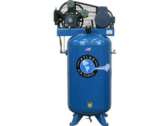 Atlas® Automotive Equipment Air Force AF6 Two Stage Single Phase 80 Gallon 5HP Air Compressor - ATAF6