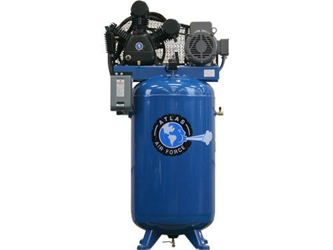 Atlas® Automotive Equipment Air Force AF9/17 Two Stage Single Phase 80 Gallon 7.5HP Air Compressor - ATAF9/17