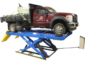 Atlas® Automotive Equipment PX16A Commercial Grade Ex-Long Alignment Scissor Lift 16,000 lbs w/Wheels-Free System