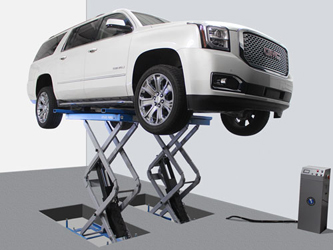 Atlas® Automotive Equipment FM9SL Flush-Mount In-Ground Scissor Lift 9,000 lbs