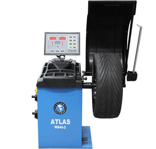 Atlas® Automotive Equipment WB49-2 PRO Premium Self-Calibrating 3D Computer Wheel Balancer