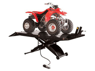 Atlas® Automotive Equipment HT-ACL Cycle Lift XLT 1,000 lbs w/ATV/UTV Side Extensions & Dolly