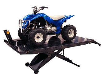 Atlas® Automotive Equipment Cycle Lift XLT ATV/UTV Lift 1,000 lbs w/Dolly & Vise - HT-CYCLELIFTtXLT