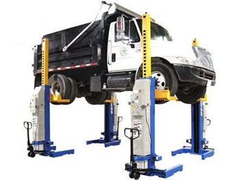 Atlas® Automotive Equipment ML-4030BC-KIT 66,000 LB. ALI Certified Battery Powered Mobile Column Lift