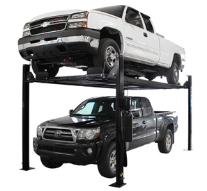 Atlas® Automotive Equipment Garage Pro 8000 Ext-L Ex-Tall Ex-Long Service/Parking 4 Post Lift 8,000 lbs