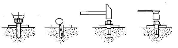 anchor bolts installing car lift diagram