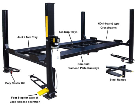 10000 Lb Car Lift >> Auto Lift FP9K-DX-XLT Car-Park-9 Car Storage Lift 9K lb | 4 Post Parking Lift