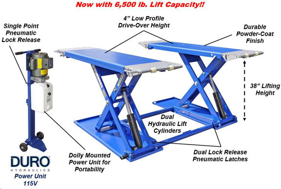 Auto LiftMR6.5K-38 Features Diagram