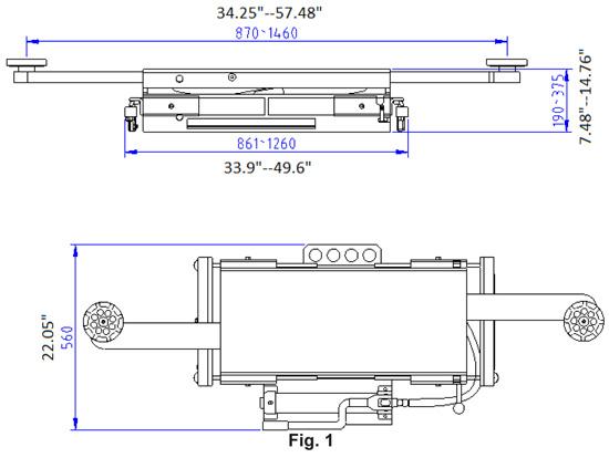 Auto Lift RJ-45 Rolling Jack 5,500 lb. Capacity specs