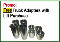 free truck adapter with Auto Lift 2 post lifts