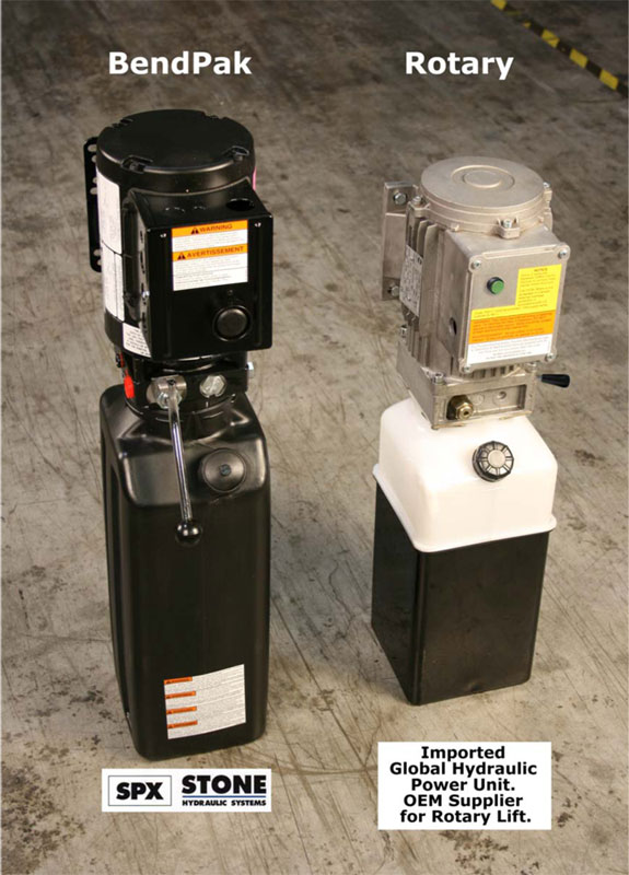 BendPak and Rotary Power Unit Comparison