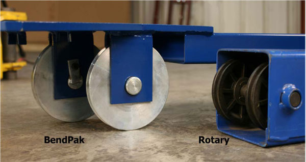 BendPak and Rotary Top Beam Sheave Detail