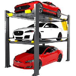 BendPak HD-973PX 9,000 & 7,000 Lb. Capacity Tri-Level Parking Lift - Extended / High Lift