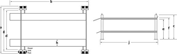 BendPak HD-973P Specifications Diagram