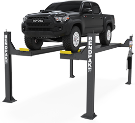 BendPak HDSO-14 Open Front 4 Post Car Lift 14,000 lb. Capacity