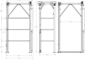 BendPak PL-1800 4 level 4-Post Parking Lift Specifications