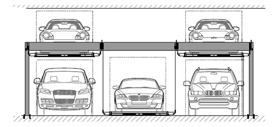 BendPak PL-6KT multi car parking solution