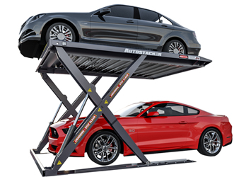 BendPak Autostacker™ PL-6SR Scissor Platform Parking Lift 6,000 lb. Capacity w/Standard Power Unit Console