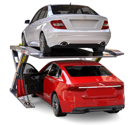 BendPak Autostacker™ PL-6SRX Extra-Wide Scissor Platform Parking Lift 6,000 lb. Capacity w/Standard Power Unit Console