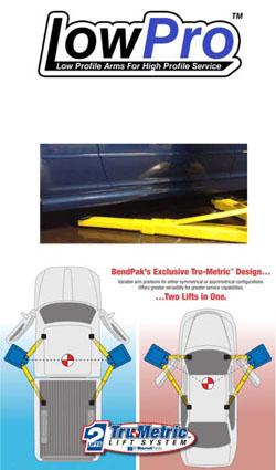 BendPak Symmetric Clearfloor / Low-Pro Arms XPR-10A-LP 2-Post Car Lift