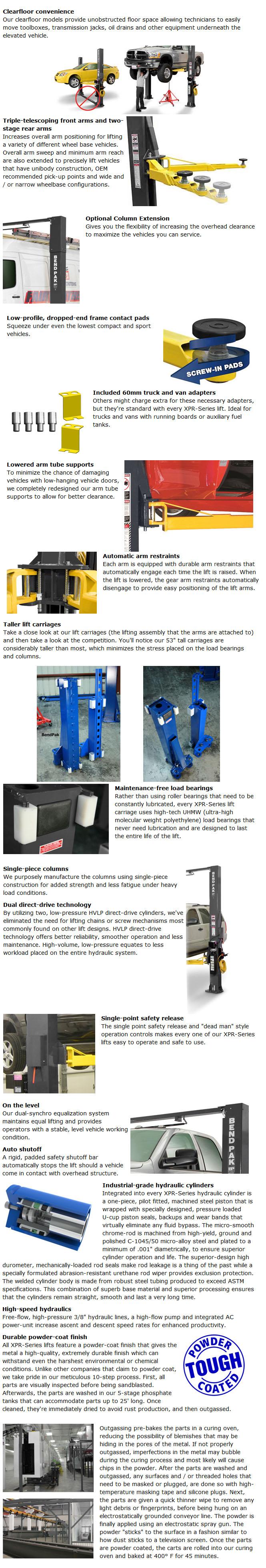 BendPak XPR-10S Info