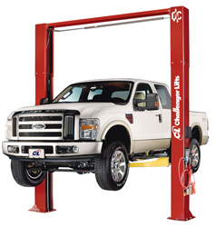 Challenger CL10V3-DPS-QC ALI Cert. Versymmetric Plus Two Post Car Lift 10,000 w/Dual Pendant Power Controls & Quick Cycle