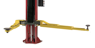 Challenger Lifts offers complete productivity with Versymmetric 2 stage- front arm two post automotive lift