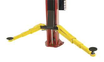 Challenger Lifts Versymmetric 2 stage- front arm two post automotive lift