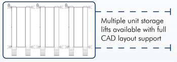 CL49P Multi Unit Storage