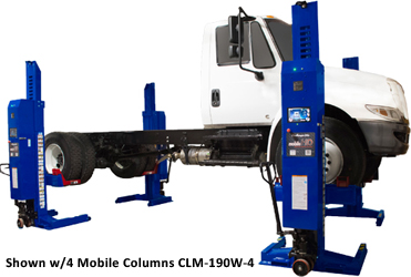 Challenger CLHM-190W HD Wide Mobile Column Lifts Set of 2- CLHM-190W-2