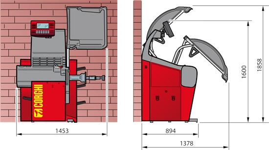 EM955 specs diagram