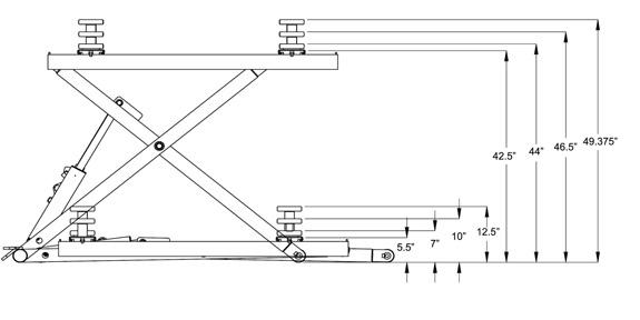 Cadet 6000 Portable Mid-Rise Scissor Lift